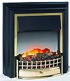 EWT 111364 Elektrisches Kaminfeuer,Schwarz