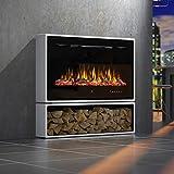 Noble Flame Miami Standkamin Elektro-Kamin - Elektroeinsatz Paris 920 – LED Flammeneffekt...