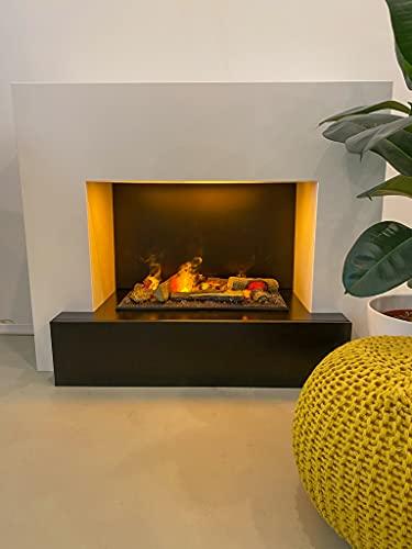GLOW FIRE Hauptmann Elektrokamin Opti Myst Cassette 600 3D Wasserdampf Feuer, elektrischer...