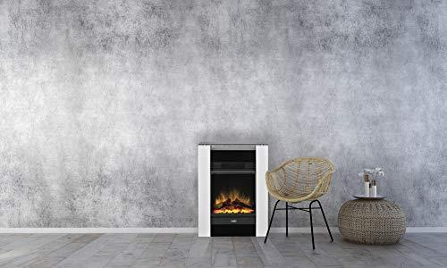 Dimplex Gisella white elektrisches Kaminfeuer mit Fernbedienung, Weiß, 2 Heizstufen, Patentierter...