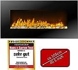 JUNG Classicfire Elektrokamin mit Heizung, Wandkamin mit 2000W, LED Kaminofen Kaminfeuer mit...