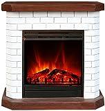 El Fuego Kiel weiß Elektrokamin mit täuschend echtem Flammeneffekt, 1600 W, 230 V